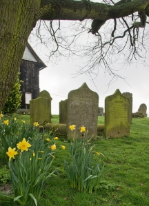 Grave stones of James Hornsby and this three wives, Sarah, Catherine and Catherine in the St. Nicholas Churchyard.