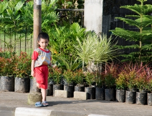 Little boy in Tomohon, North Sulawesi