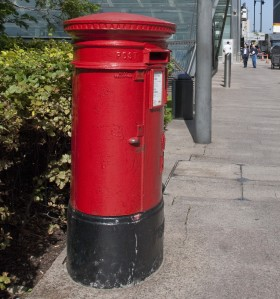 The ubiquitous and iconic red post box