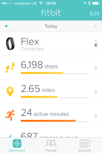 fitbit readout on iPhone