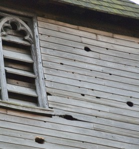 St. Nicholas Church Bell Tower with Woodpecker Holes