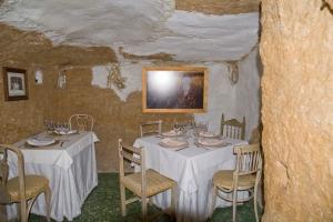 Troglodyte restaurant interior in San Miguel de Salinas