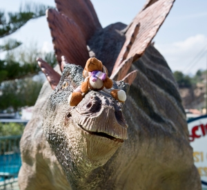 Reg on a Stegosaurus