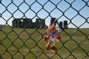 Reg outside Stonehenge