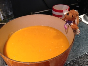 Reg and the butternut squash, lemon and thyme soup