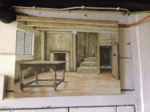Painting of lower room in the Priests House