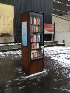 Book Box in Basildonplatz, Heiligenhaus, Germany